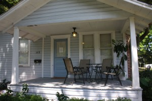 The front porch of Jack Kerouac's house in Orlando.